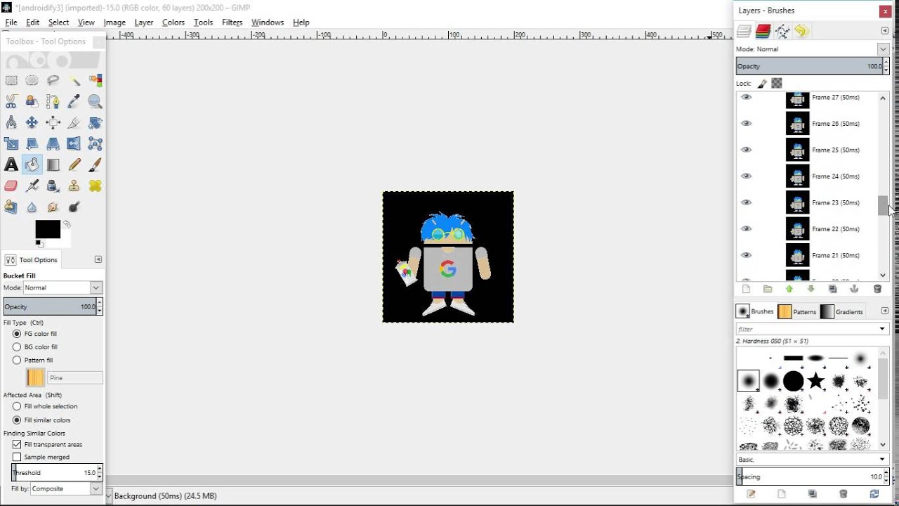how to use gimp to change color