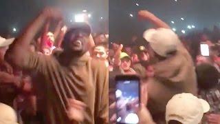 Kevin Durant Gets Crazy In Mosh Pit At Kanye West Concert