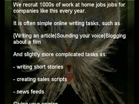 work at home jobs and creative work at home jobs