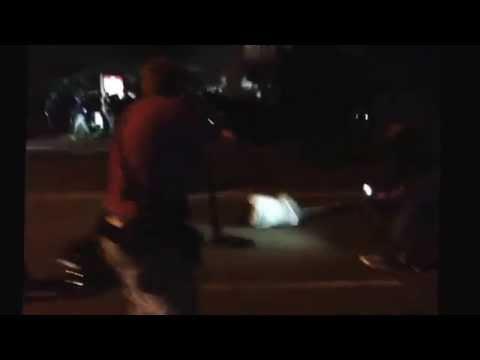 Riots Heidenau, Dresden. Police against antifa and migrants. 23.08.2015