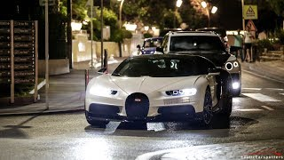 Arab Supercar Invasion in Juan les Pins ! 2x Huayra, Chiron, Liberty Walk Aventador, Novitec F12,...