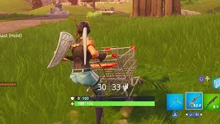 """SHOPPING CART GAMEPLAY"" FORTNITE SHOPPING CART LOCATIONS WHERE TO FIND SHOPPING CARTS FORTNITE!"
