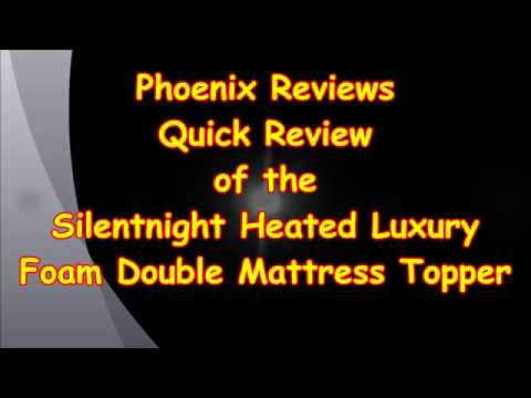 Silentnight Heated Luxury Foam Double Mattress Topper