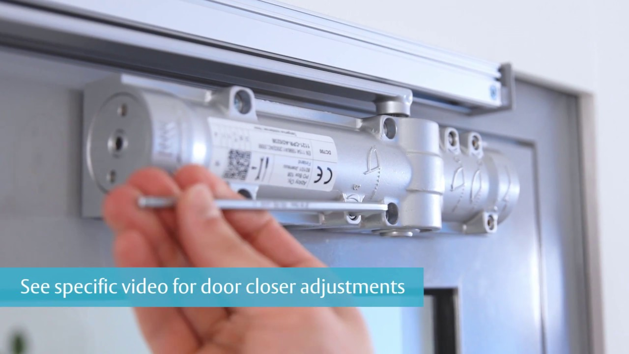 Assa Abloy Dc700 G461 Door Closer Installation Guide Youtube