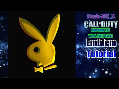 Infinite Warfare Emblem - Playboy Gold (Darkelf X) Call of Duty