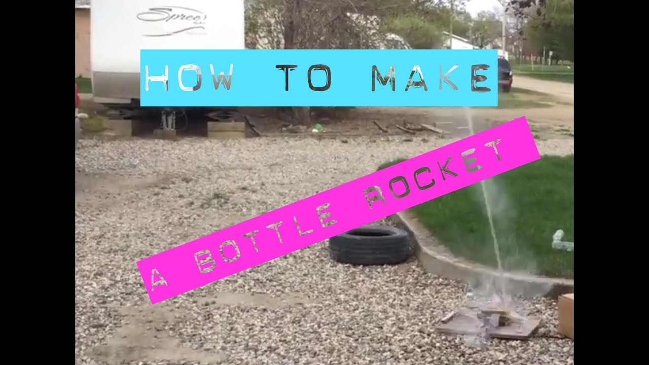 How To Make A Diy Bottle Rocket With Household Items Youtube