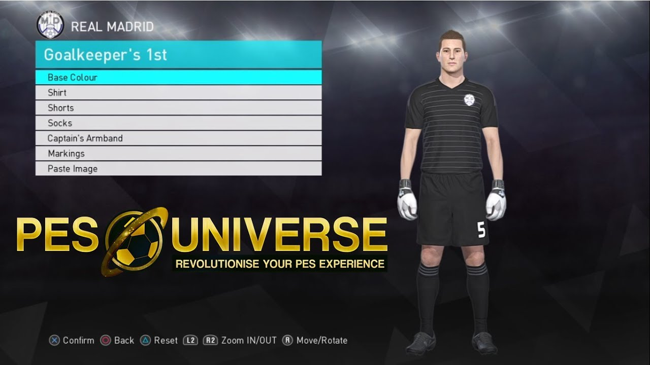cheaper 7b0b2 28006 PES 2018 2019 Kit Editing XBOXONE/360 - REAL MADRID GK Home Kit 18/19