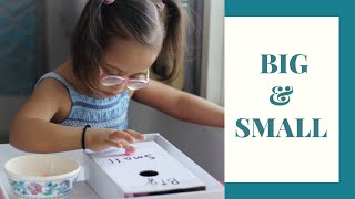 BIG & SMALL CONCEPT | DIY | Down Syndrome India #homeschooling