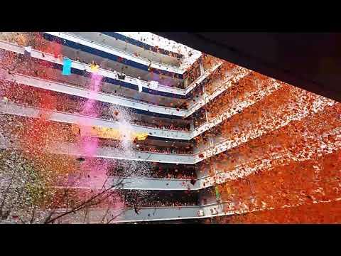 Confetti War at University of Cebu - Banilad Campus