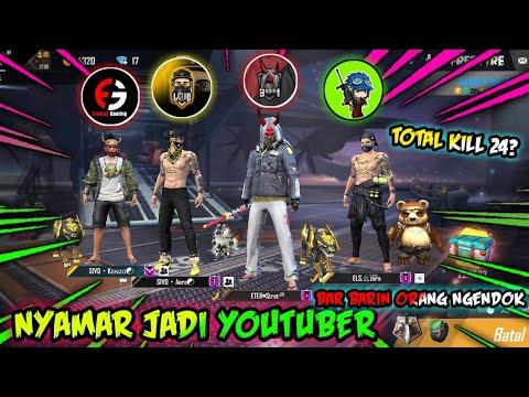 NYAMAR JADI YOUTUBER PAKE BUNDLE FRONTAL GAMING    LETDA HYPER    BUDI 01 GAMING AND CEPCIL!FREEFIRE