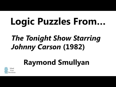 Logic Puzzles From The Tonight Show (1982)  Can You Solve