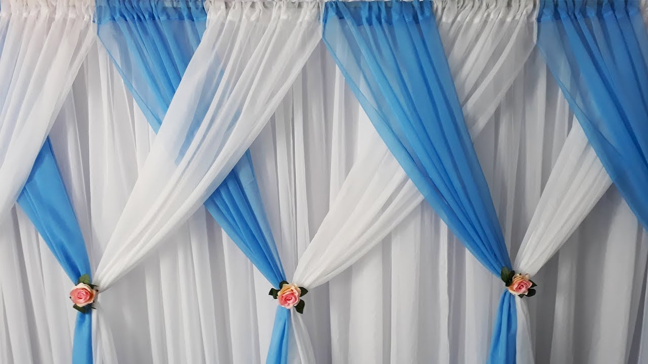 Como fazer painel de cortin rio para decora o de festas - Modelos de cortinas infantiles ...