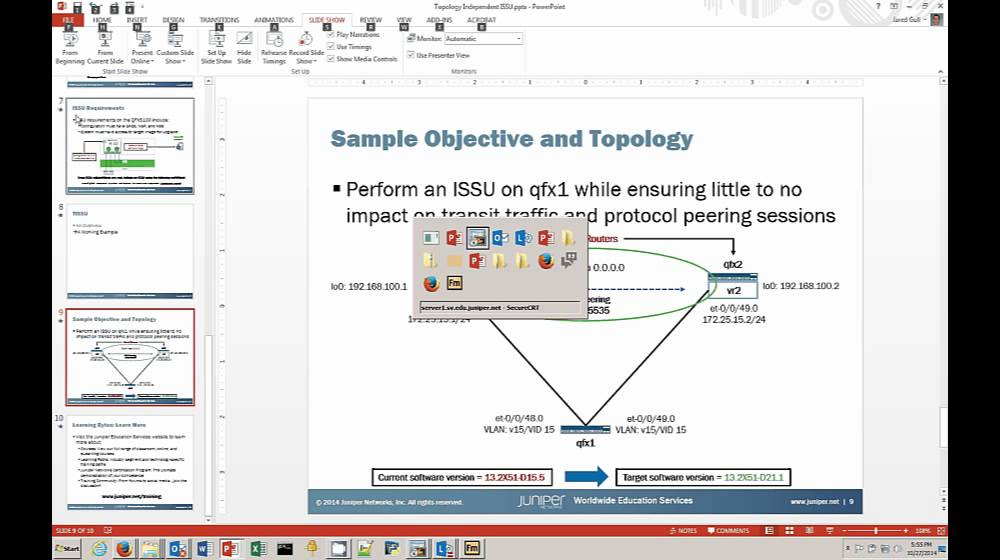 Topology Independent In-Service Upgrade / Junos OS for QFX5100 and