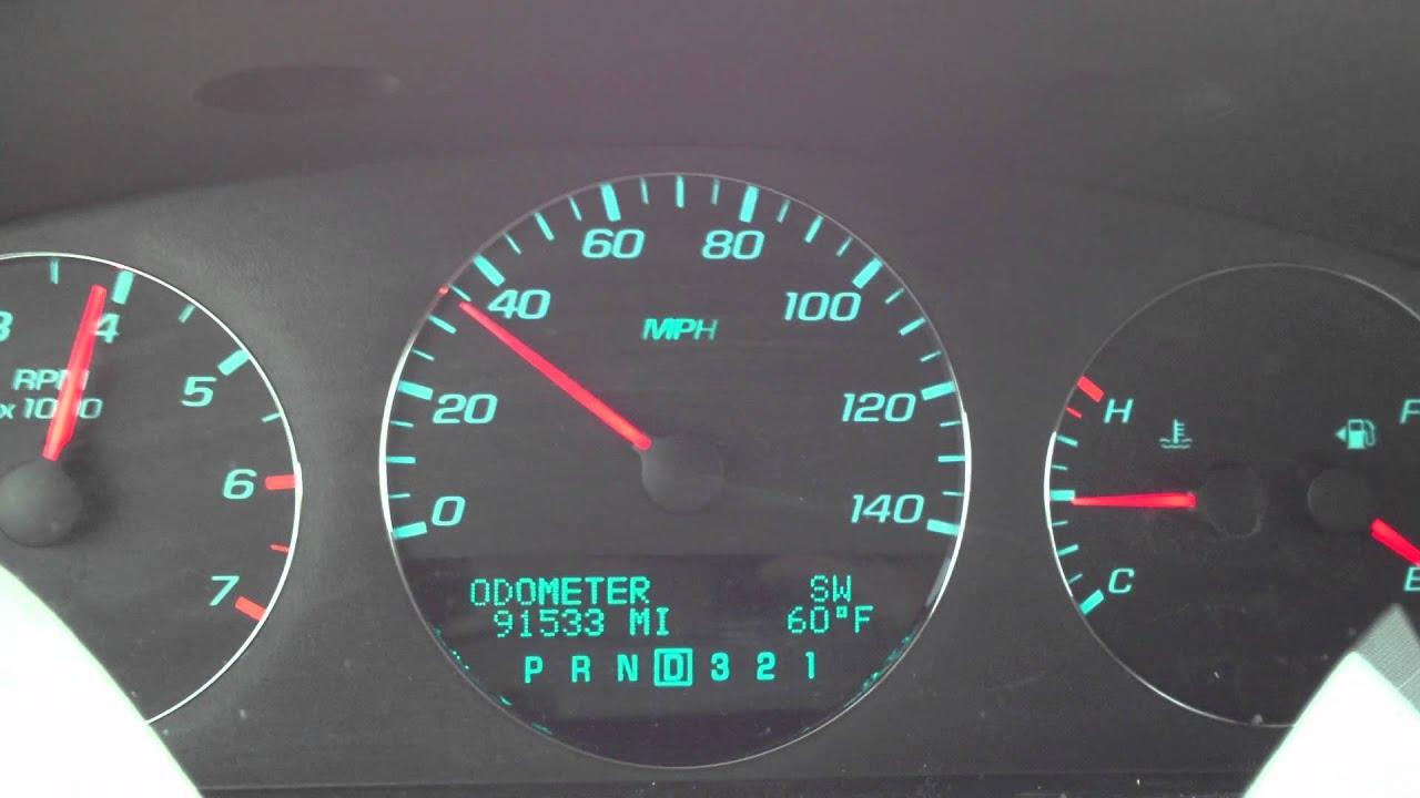 2010 Chevy Impala 3 5L 0 60 MPH