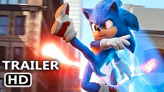 "SONIC THE HEDGEHOG ""Sonic vs Robotnik"" Trailer (NEW, 2020) Jim Carrey Movie HD"