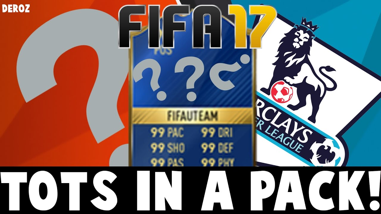 FIFA 17 TOTS IN A PACK! | BPL SBC PACKS! - YouTube