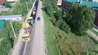 Начат ремонт дороги в Сарсу