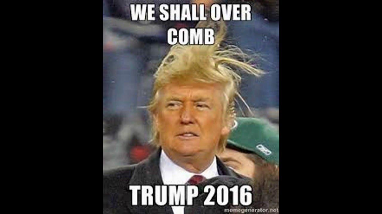 Donald Trump Funny Hair Memes : Donald trump meme compilation youtube