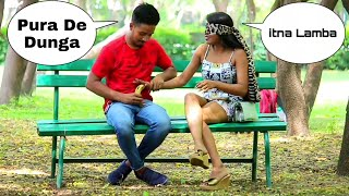 Giving kela (केला🍌 ) In Hand Prank on hot girl ll Latest funny prank 2020 ll Star Brothers