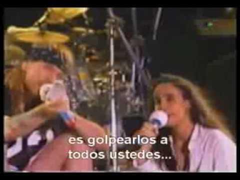 guns n' roses en argentina 1993- axl rose enojado