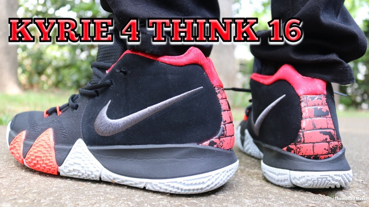 550dee312cf0 NIKE KYRIE 4 THINK 16 AKA 41 FOR THE AGES REVIEW   ON FEET - YouTube