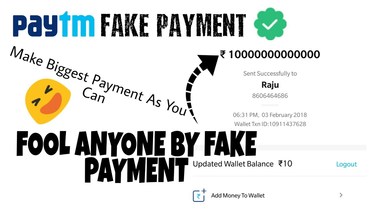 Fake PAYTM Payment Spoof With Fool Your Friend🔥🔥