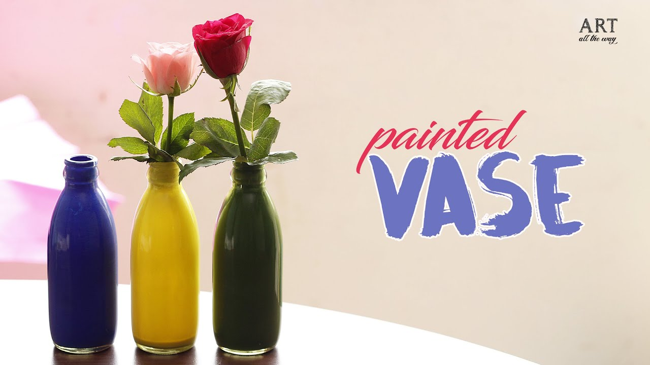 How to make painted vase homemade do it yourself youtube how to make painted vase homemade do it yourself ventuno art solutioingenieria Image collections