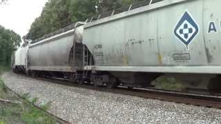 Radio Chatter and Train 58A 10 27 2012