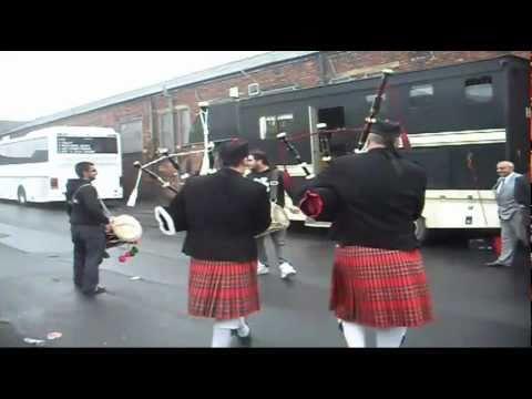 Bagpipe Dhol fusion clips Bradford 2010