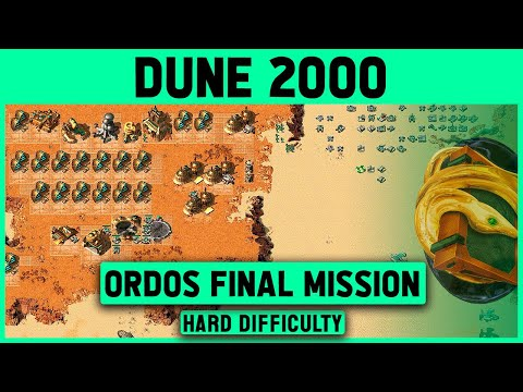 Dune 2000 - Ordos Final Mission 9 (Right Map) - Hard Difficulty - 1920x1080