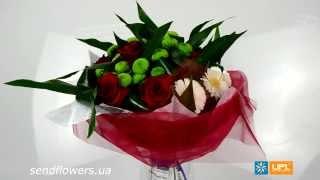 Букет На праздник. Заказать цветы на 14 февраля - SendFlowers.ua(, 2014-02-12T20:47:30.000Z)