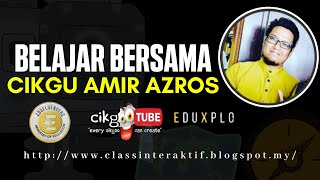 Kelas Online Cikgu Amir Azros : RBT Tingkatan 2 (Reka Bentuk Mekanikal)