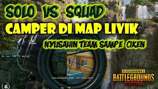 Download BADUT CAMPER DI MAP LIVIK SOLO VS SQUAD PUBG MOBILE | BADUT GAMING