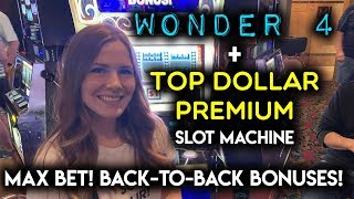 Top Dollar Premium Slot Machine! Back2Back BONUSES! Max Bet!!