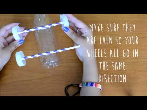 How to make a balloon-powered bottle car!