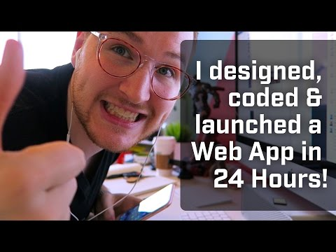 I Designed, Coded & Launched A Web App in 24 Hours [Vlog 001]
