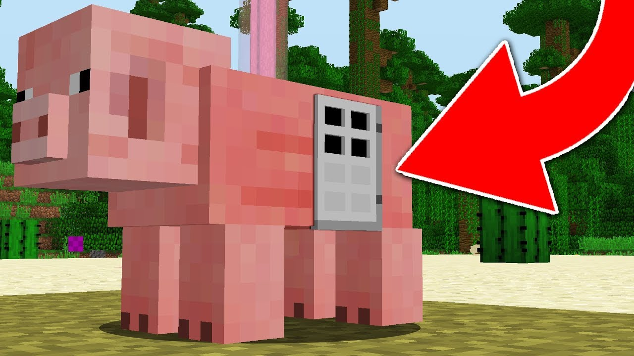 How To Live Inside A Pig In Minecraft Youtube