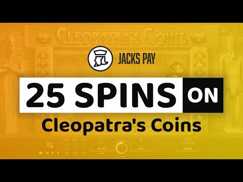 Claim Your 25 Spins On Cleopatra's Coins At JacksPay Casino!