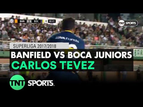 Carlos Tevez (0-1) Banfield vs Boca Juniors | Fecha 16 - Superliga Argentina 2017/2018