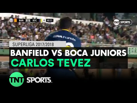 Carlos Tevez (0-1) Banfield vs Boca Juniors | Fecha 16 - Superliga Argentina 2017/2018