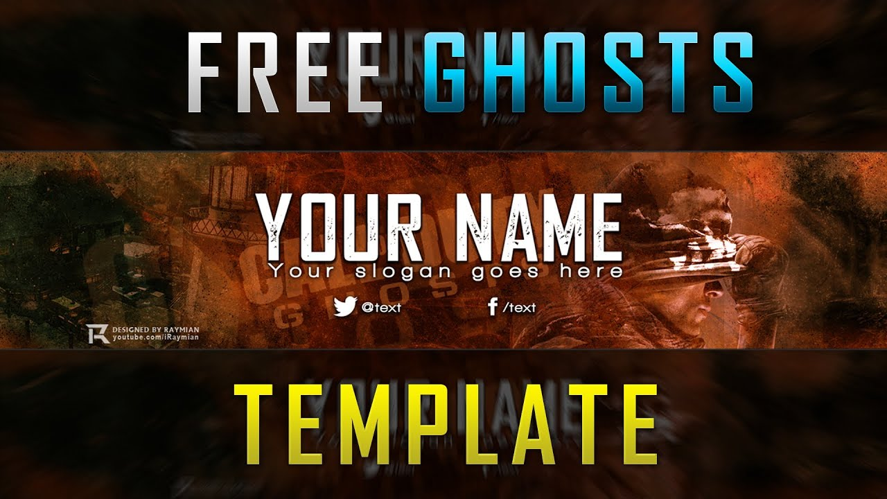 free cod ghosts banner template