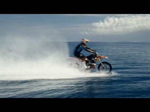 Motocross pro tackles huge waves- on his bike