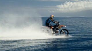 Motocross pro tackles huge waves- on his bike