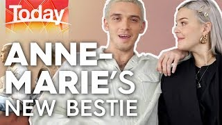 Anne Marie jokes around with her new bestie Today Show Australia