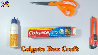 Best Out Of Waste Colgate Box Craft Idea | Colgate Box Reuse | Reuse Toothpaste Box | Craft Project