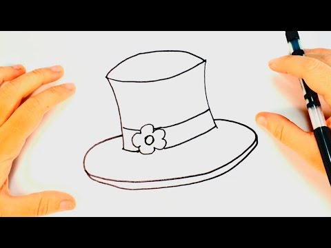 How to draw a Hat | Hat Drawing Lesson Step by Step