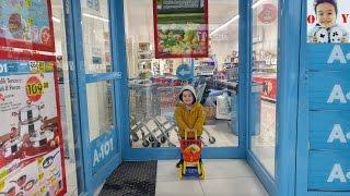 YUSUF A-101'DEN ALIŞVERİŞ YAPTI!!!Kendisine Alışveriş Sepeti Aldı, Eğlenceli çocuk videosu