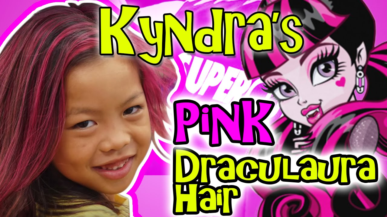 kyndras draculaura pink hair dye at supercuts