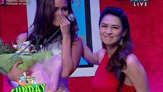 Marian Rivera Congratulates Megan as the New Marimar in Sunday Pinasaya