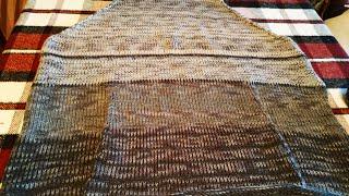 Расчет и вязание кармана КЕНГУРУ сверху вниз на вязальной машине для толстовки
